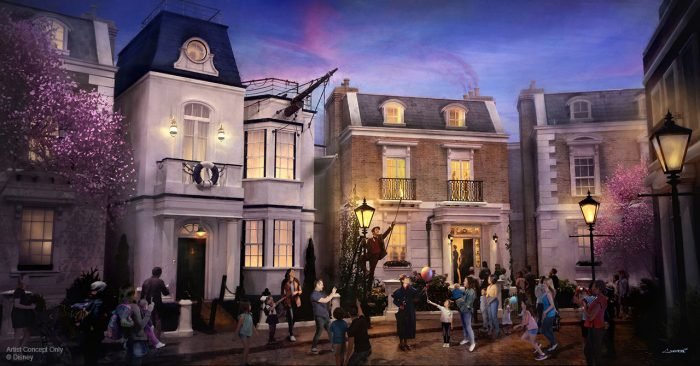 Mary poppins epcot concept art