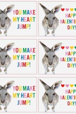 Kangaroo Valentine Free printable