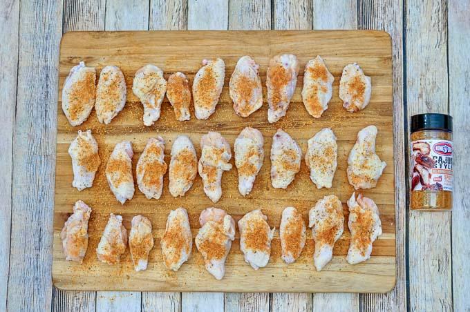 Cajun chicken wings 2