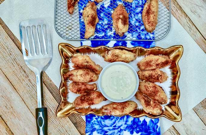 Cajun chicken wings 4