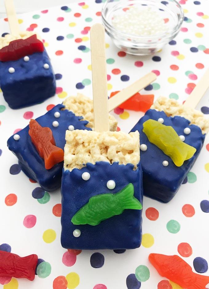Fishy rice kirspie treats 2 1
