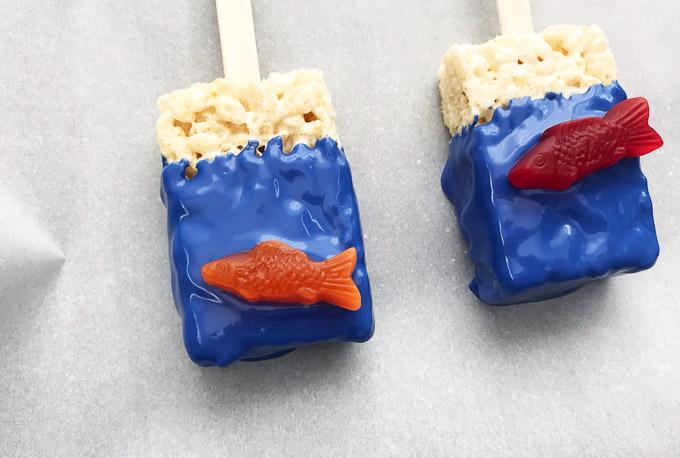 Fishy rice kirspie treats 9