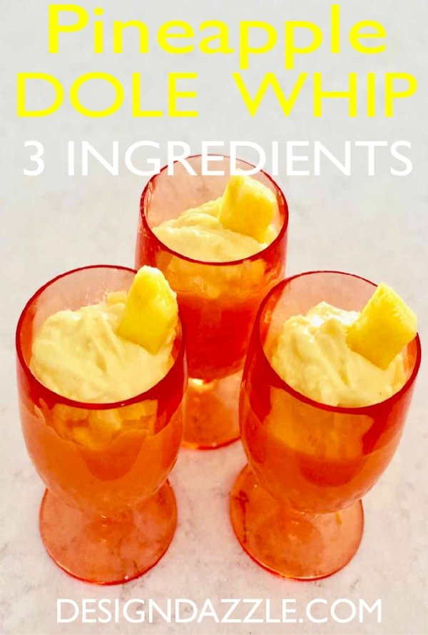 Pineapple Dole Whip 3-Ingredient Recipe