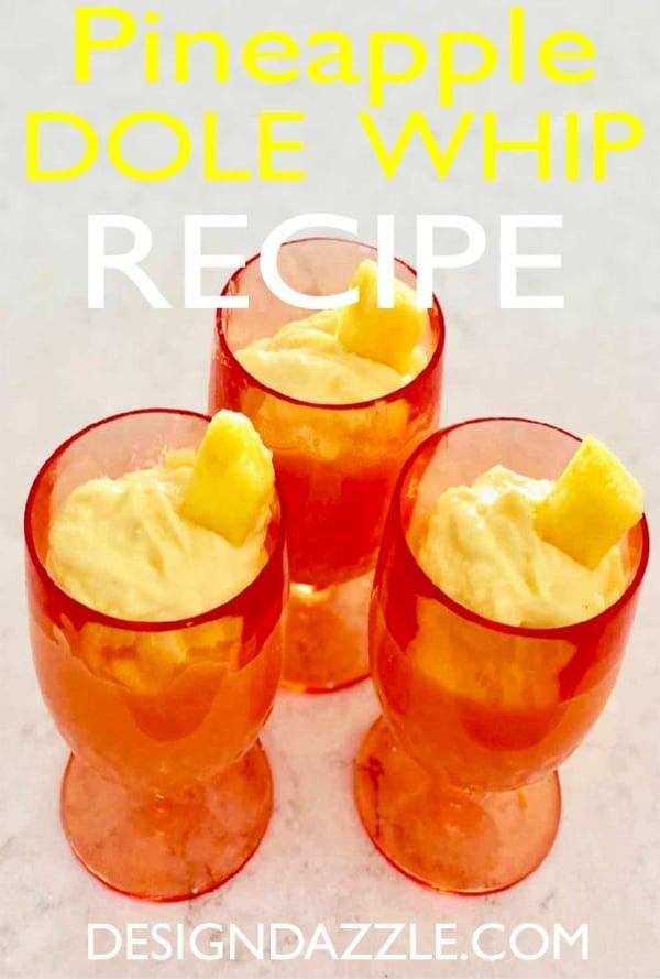 Pineapple Dole whip recipe