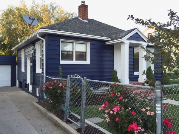 Navy Blue Home Exterior: Before And After