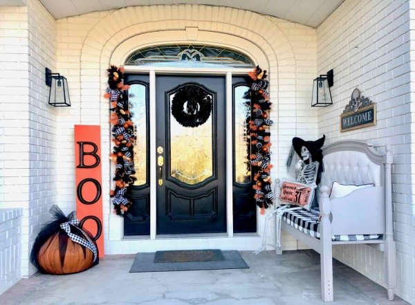 My Porch Halloween Style!