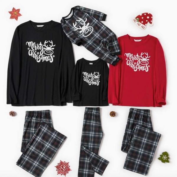 Black/white and red Christmas Pajamas