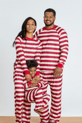 Red and White Striped Pajammas