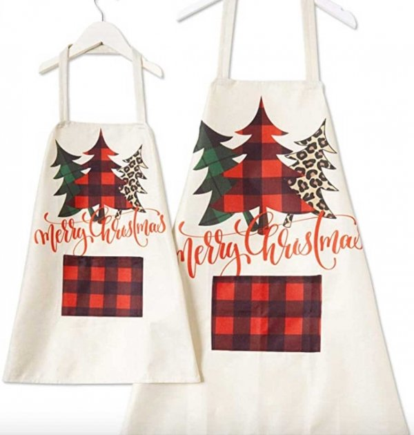 Mommy and Me Christmas Apron
