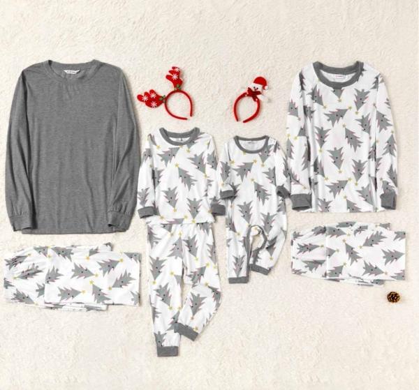 Grey and White Tree Pajamas