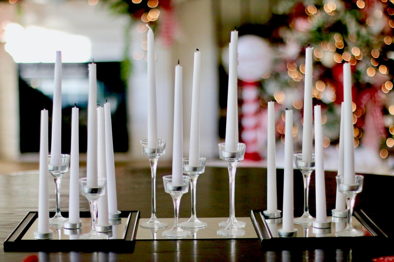 Dollar store tablesetting for the holidays!