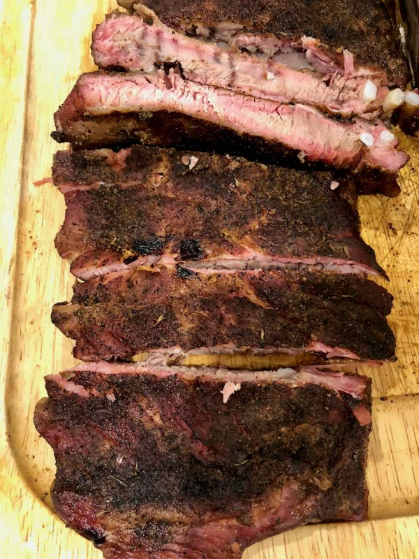 Smoked ribs were a great addition to a side for raclette