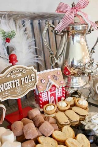 North Pole Christmas Dessert Board