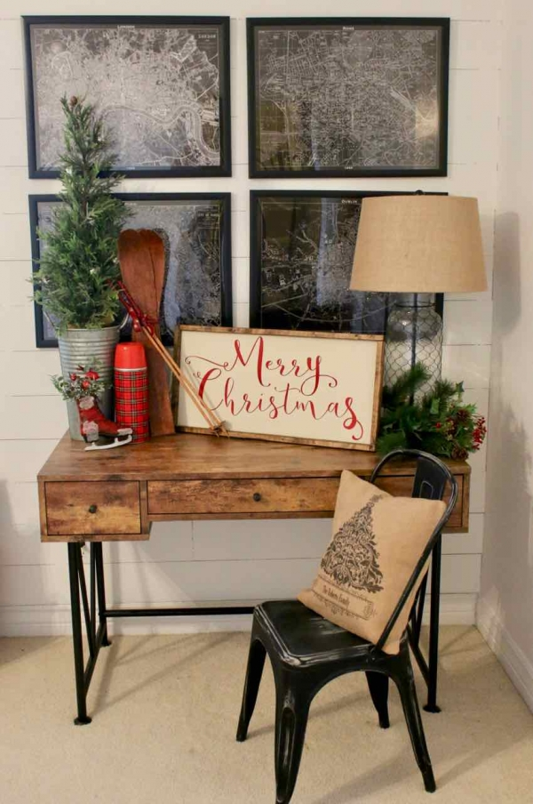 Decorating the bedroom for the holidays! Design Dazzle
