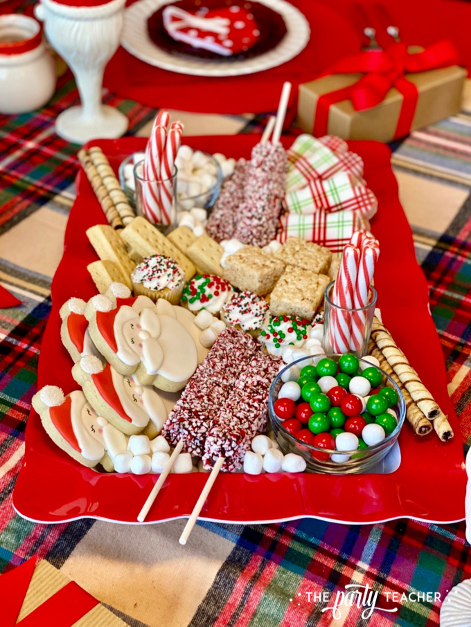 Christmas charcuterie board by the party teacher 28