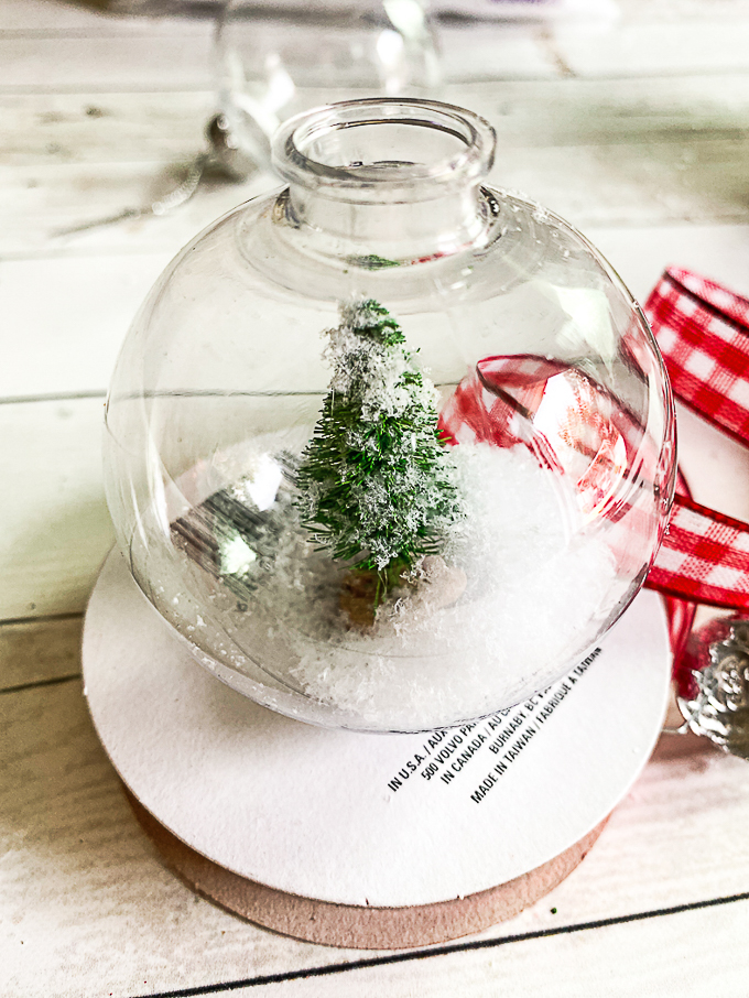 Design dazzle christmas wonderful diy snow globe ornament 6