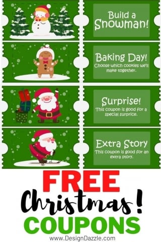 Free Christmas Coupons - Design Dazzle