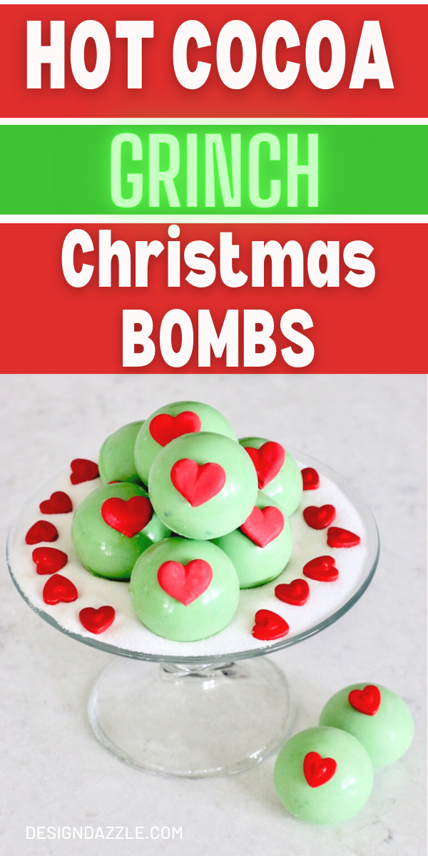 Hot cocoa grinch bombs