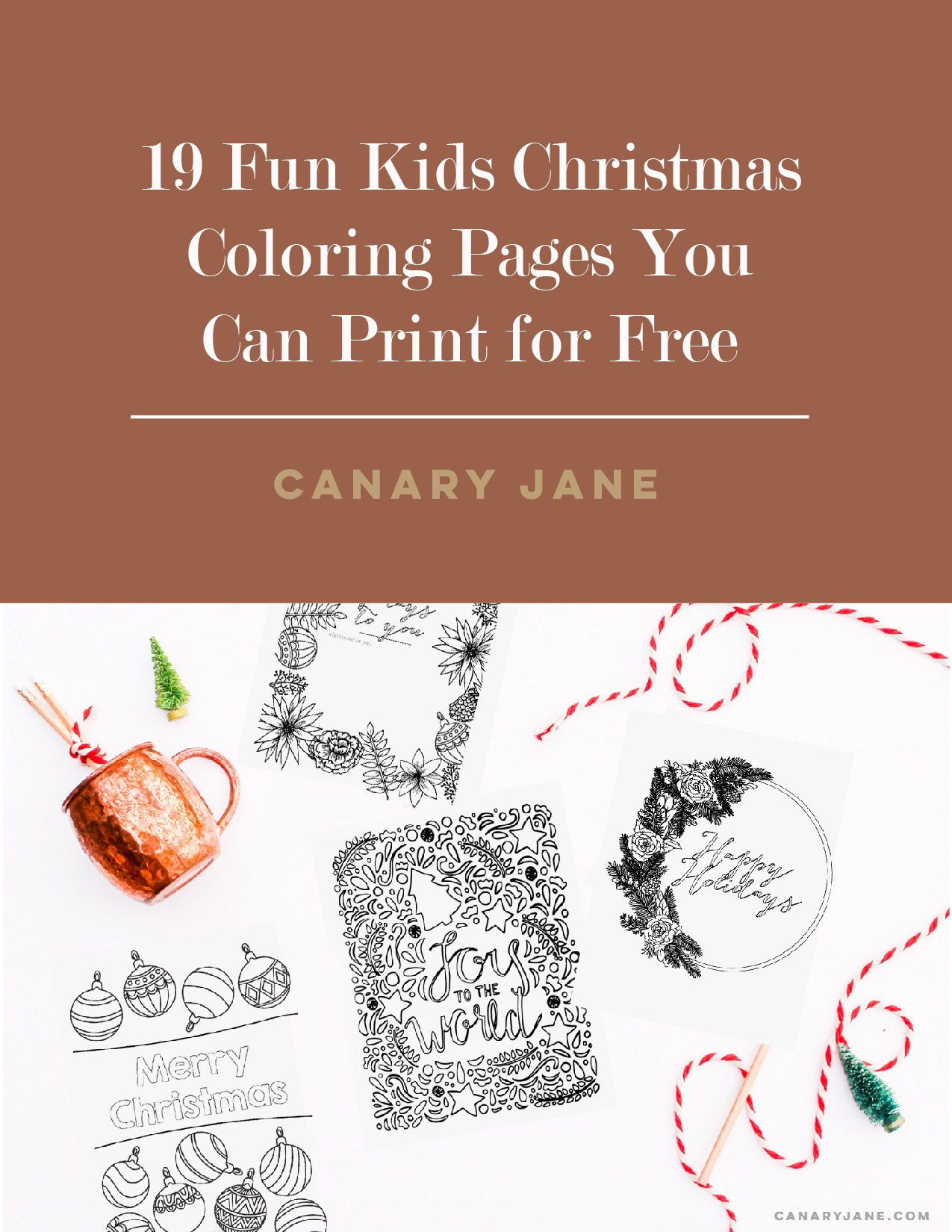 19 Fun Kids Christmas Coloring Pages!