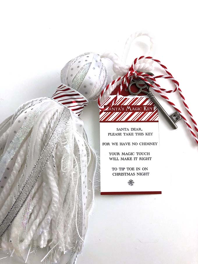 Santa's Key with tassel for a magical Christmas