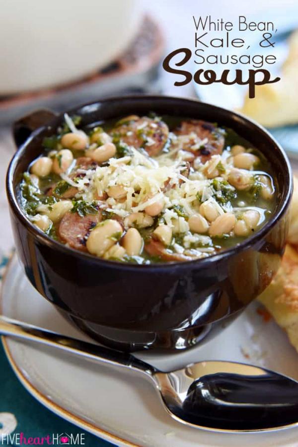 1 sausage kale white bean soup