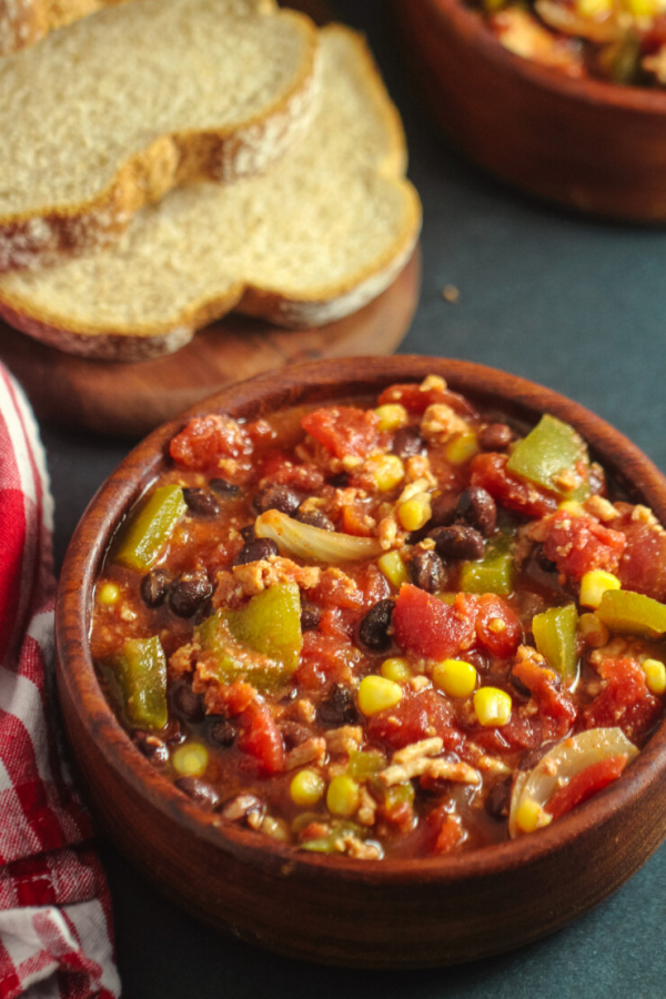 2 slow cooker turkey black bean chili