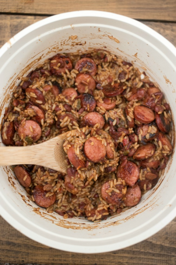 easy one pot red beans and rice dinner