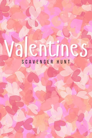 Valentine scavenger hunt free printable - Design Dazzle
