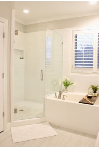 Master bathroom remodel with Pfister