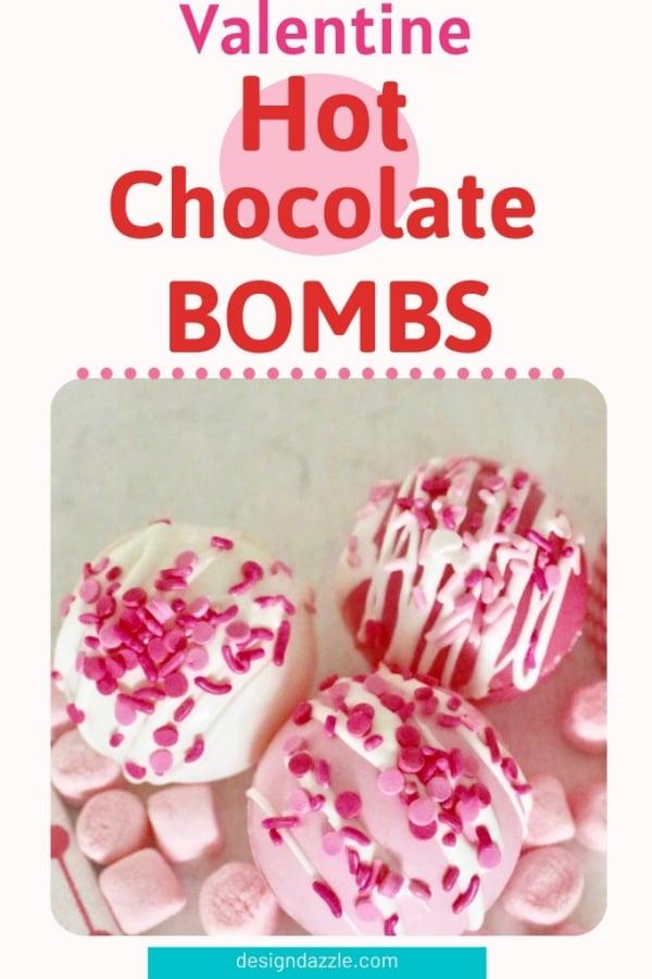 Valentine hot chocolate bomb