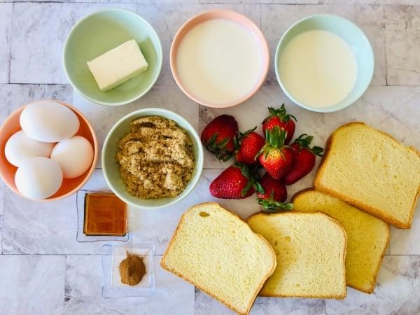 Strawberry french toast bake 1