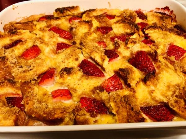 Strawberry french toast bake 6