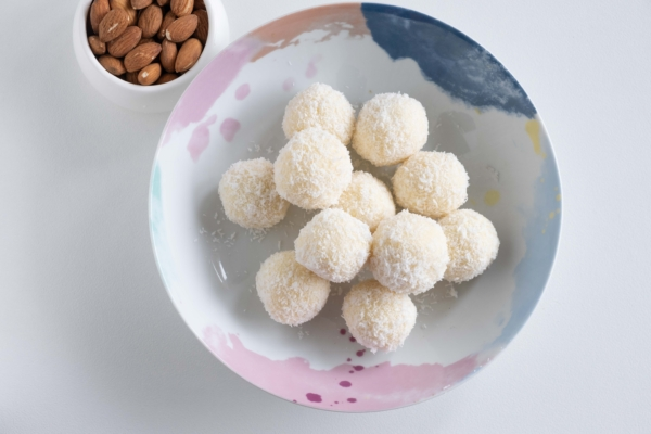 White chocolate coconut truffles 5 1