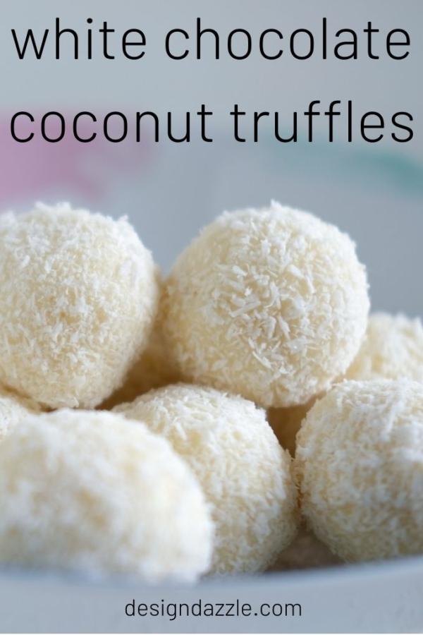 White chocolate coconut truffles