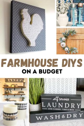 20 easy farmhouse diys on a budget