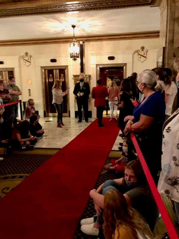 Visiting The Peabody Hotel for the duck march. This has been ongoing for 80 years. What a cute thing to see the ducks waddle from elevator to the fountain.