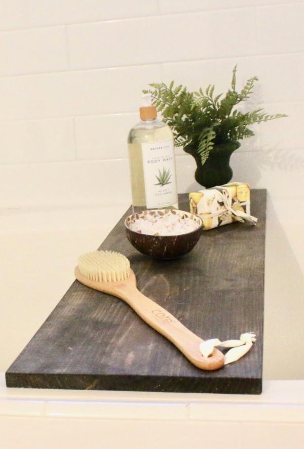 DIY Bathtub Tray - No tools needed